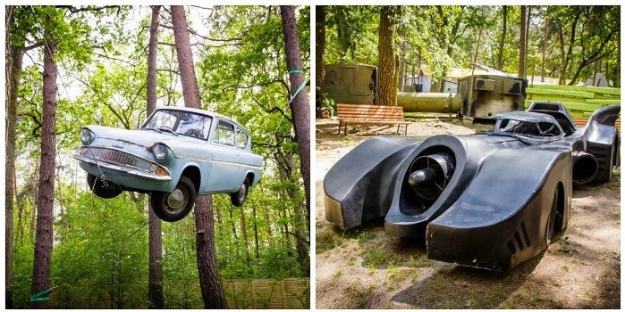 samochody z filmów park rozrywki dzielnica filmowa dla dzieci atrakcje 11212