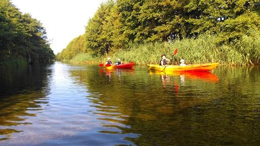 spływy kajakowe do morza Piaśnica Kaszuby dębki cennik opinie
