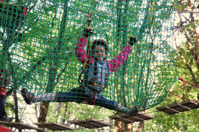 park linowy Władysławowo atrakcje dla dzieci
