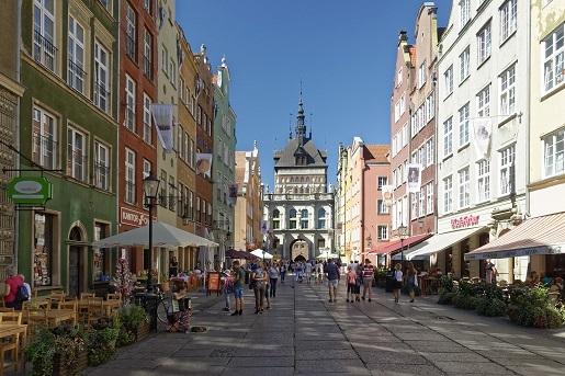 ulica długa gdansk gdzie z rowerem z dzieckiem