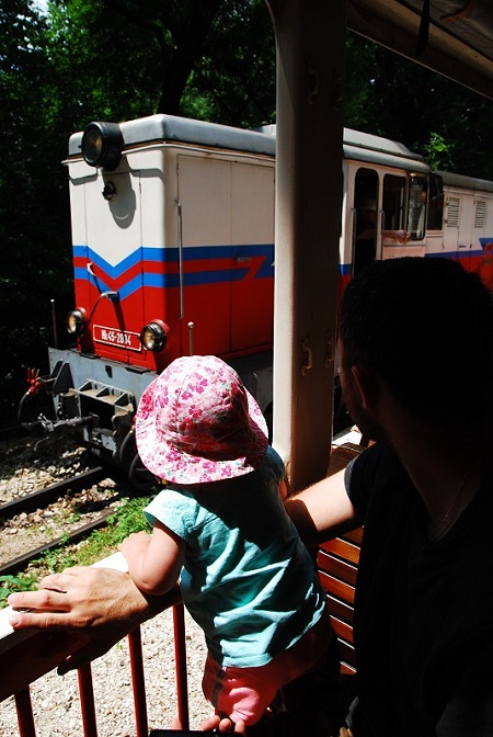 wąskotorwa kolejka dla dzieci na Wzgórze Széchenyi'ego - Budapeszt atrakcje