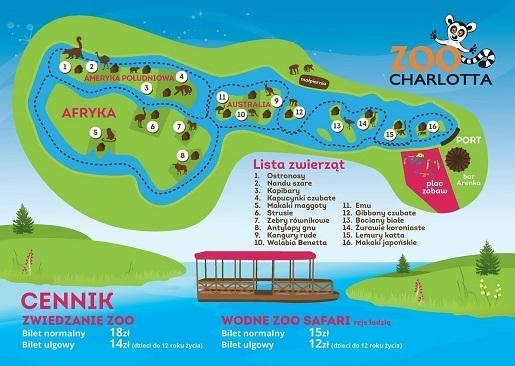 ZOO cennik Dolina Charlotty - Mapa