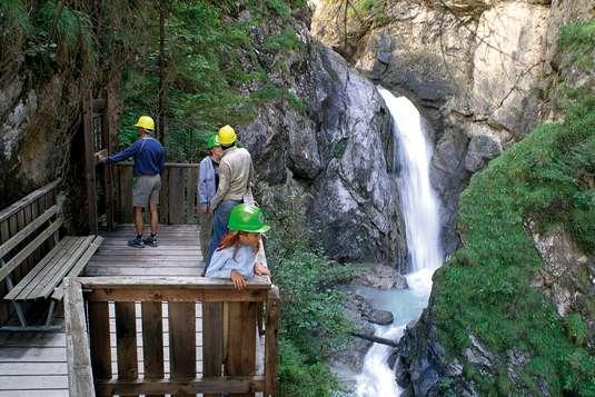 wodospad wąwóz galitzenklamm austria rzeka atrakcje z dziećmi Południowy Tyrol