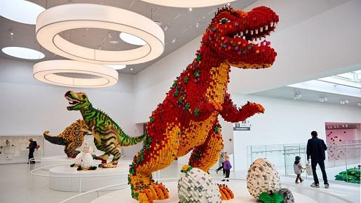 wystawa LEGO House dinozaury z klocków atrakcje m