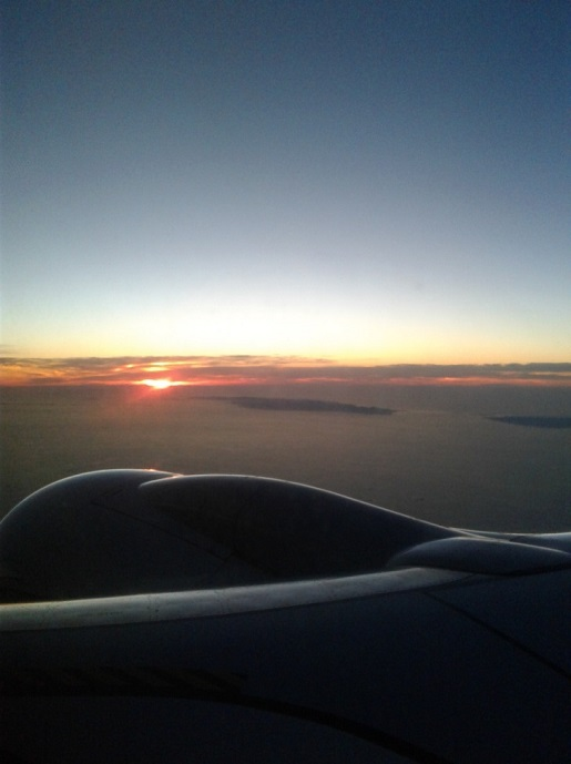 zachód słońca lot nad Gran Canaria