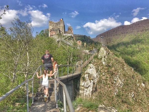 zamek Wlada Palownika w Poienari Rumunia atrakcje