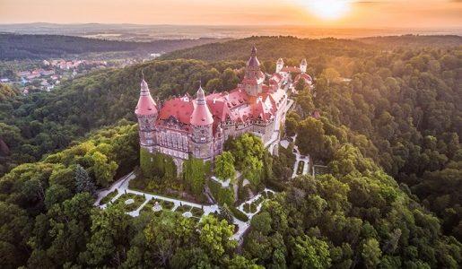 zamek książ atrakcje rodzinne cennik widok z lotu ptaka opinie
