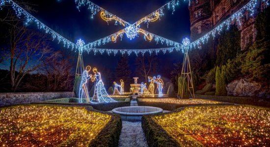 zamek książ ogrody światła 2019 godziny ceny opinie