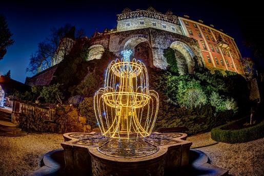 zamek książ ogrody światła opinie godziny ceny
